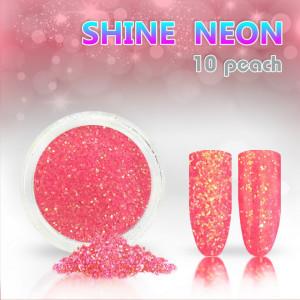 Shine Neon 10 Peach - Sclipici pentru unghii