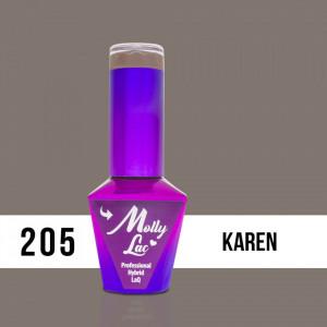 205 Karen Molly Lac 10 ml Oja Semipermanenta