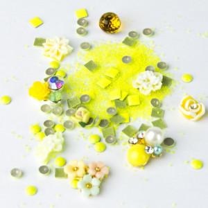 Strasuri unghii mix Neon Galben