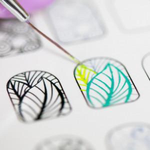 Traning card nail art 12-5