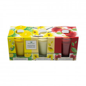 Set 3 lumanari parfumate, Mar&Scortisoara, Vanilie, Lamaita