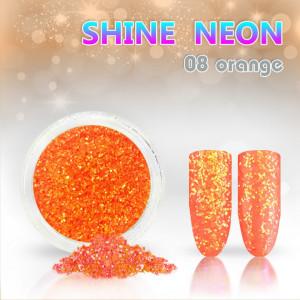 Shine Neon 08 Orange - Sclipici pentru unghii