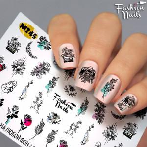 Tatuaje unghii Metalic M245