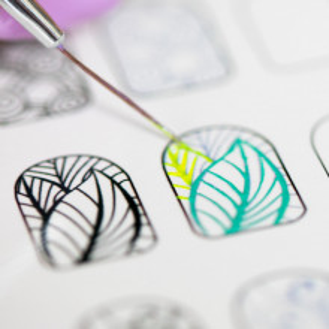 Traning card nail art 12-6