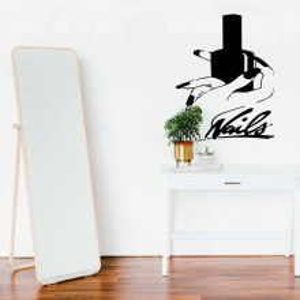 Sticker perete salon manichiura 57x71 cm