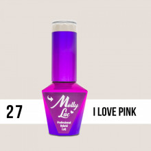 27 I Love Pink Molly Lac 10 ml Oja Semipermanenta