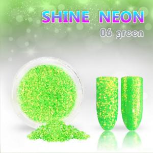 Shine Neon 06 Green - Sclipici pentru unghii