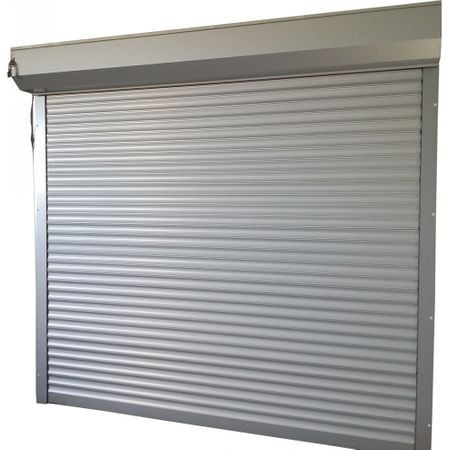Usa garaj automata 3700 x 2300 , argintiu 9006 , lamele 77 mm