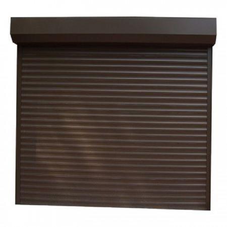 Usa garaj electrica 2600 x 2400 , maro inchis 8019 , lamele 55 mm
