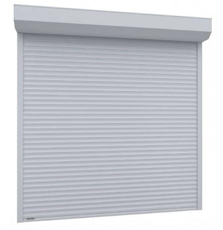 Usa garaj electrica 2400 x 3000 , alb 9016 , lamele 55 mm
