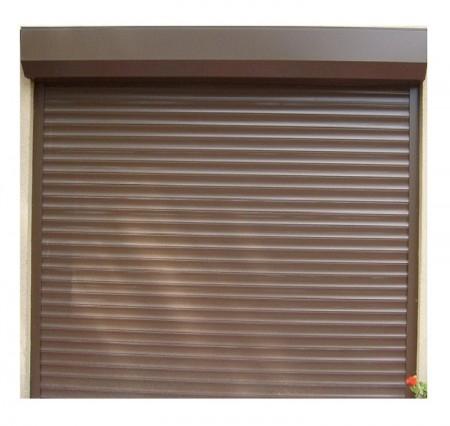 Usa garaj electrica 3000 x 2800 , maro deschis 8014 , lamele 55 mm