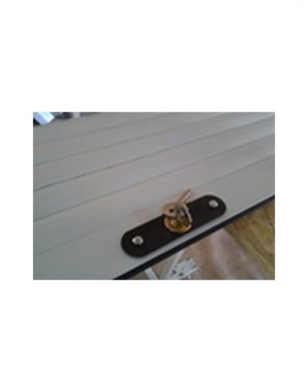 Usa garaj actionare manuala 3000 x 3000 , maro inchis 8019 , lamele 55 mm