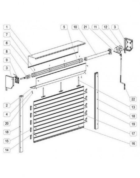 Usa garaj automata 2200 x 2200 , argintiu 9006 , lamele 55 mm
