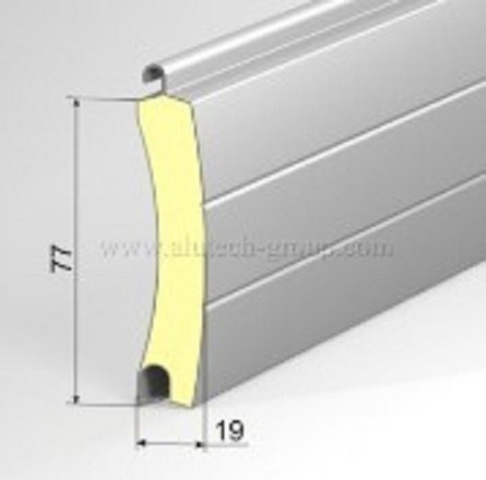 Usa garaj automata 3200 x 2500 , argintiu 9006 , lamele 77 mm
