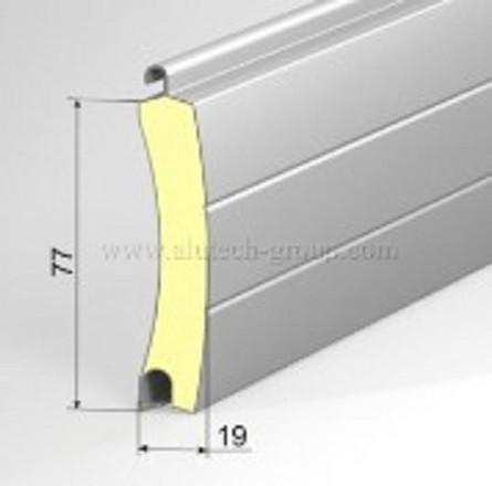 Usa garaj automata 4000 x 3000 , argintiu 9006 , lamele 77 mm