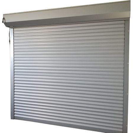 Usa garaj automata 3200 x 2300 , argintiu 9006 , lamele 77 mm