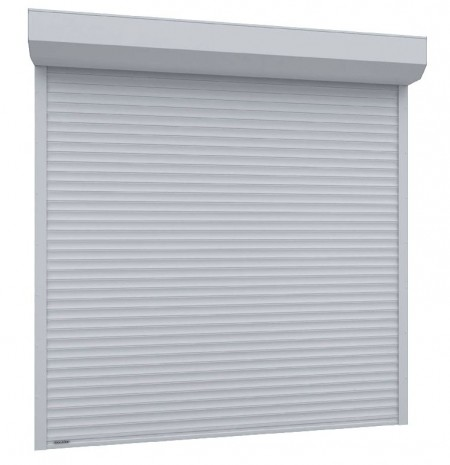 Usa garaj electrica 2500 x 2200 , alb 9016 , lamele 55 mm