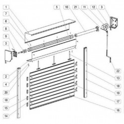 Usa garaj automata 2500 x 2500 , argintiu 9006 , lamele 55 mm