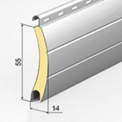 Usa garaj actionare manuala 3000 x 2800 , maro deschis 8014 , lamele 55 mm