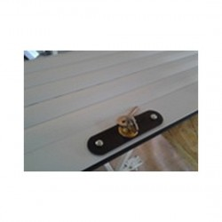 Usa garaj actionare manuala 3000 x 2400 , alb 9016 , lamele 55 mm