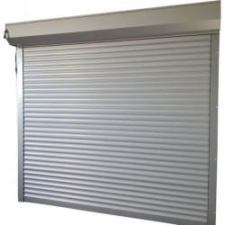 Usa garaj electrica 2600 x 2400 , argintiu 9006 , lamele 55 mm