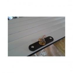 Usa garaj actionare manuala 2400 x 2200 , maro inchis 8019 , lamele 55 mm