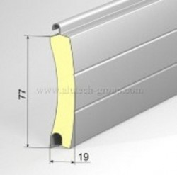 Usa garaj automata 3500 x 2500 , maro inchis 8019 , lamele 77 mm