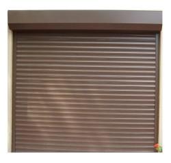Usa garaj electrica 3000 x 2300 , maro deschis 8014 , lamele 55 mm