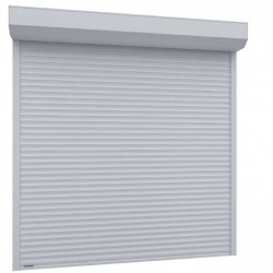 Usa garaj actionare manuala 1800 x 2200 , alb 9016 , lamele 55 mm