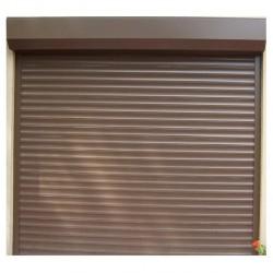 Usa garaj actionare manuala 3000 x 3000 , maro deschis 8014 , lamele 55 mm