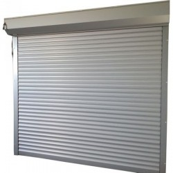 Usa garaj automata 4200 x 3000 , argintiu 9006 , lamele 77 mm