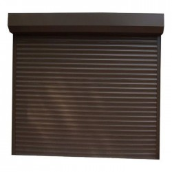 Usa garaj electrica 2500 x 2200 , maro inchis 8019 , lamele 55 mm
