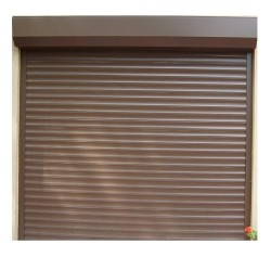 Usa garaj electrica 1500 x 2200 , maro deschis 8014 , lamele 55 mm