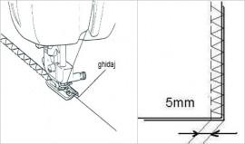 Piciorus pentru incheierea a doua materiale pe margine, tip surfilat, fara taiere