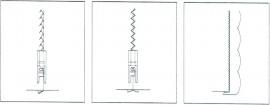 Piciorus transparent cu vizibilitate maxima pentru unirea a doua bucati de material