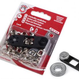 Ocheți metalici inoxidabili cu dispozitiv de atașare, Ø5,5 mm