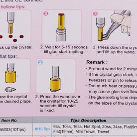 Aplicator pietricele, cristale si strasuri