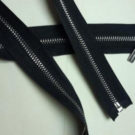 Fermoar metalic T5 90cm Nickel