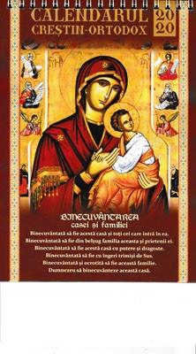Calendar crestin-ortodox 2020
