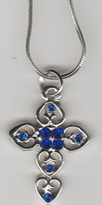 Cruce si lantisor argintiu cu pietre