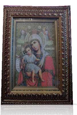 Icoana pictata pe panza Maica Domnului Axionita