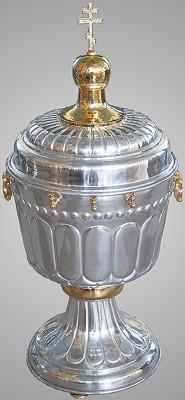 Vas de Aghiasma din aluminiu si fonta