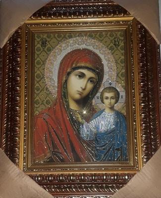 Icoana Domnului nostru Iisus Hristos si Maica Domnului Kazani -pictura pe panza