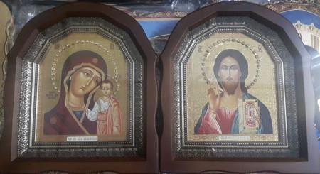 Icoanele pereche Maica Domnului si Mantuitorul