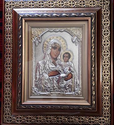 Icoana din argint Maica Domnului Ierusalima