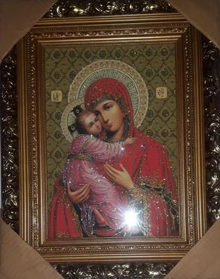 Icoana Maicii Domnului Dulcea Sarutare -pictura pe panza