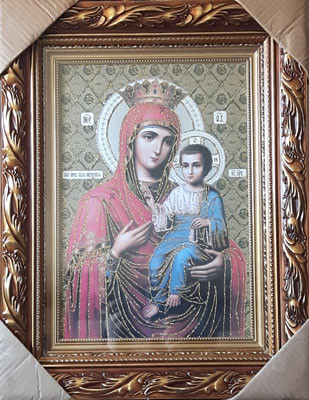 Icoana pictata pe panza Maica Domnului Portarita