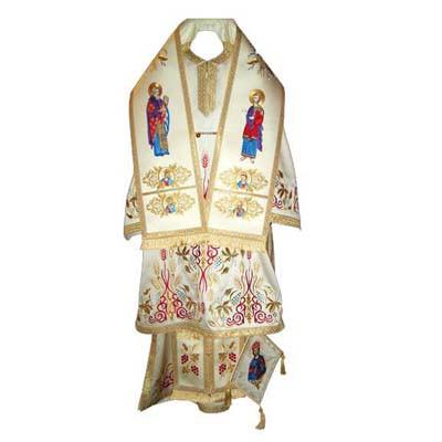 Veșmânt Episcopal brocart metalic