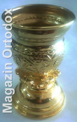 Candele aurite si emailate mici pentru Sfanta Biserica.