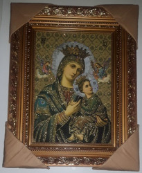 Icoana Maicii Domnului Patimitoarea -pictura pe panza